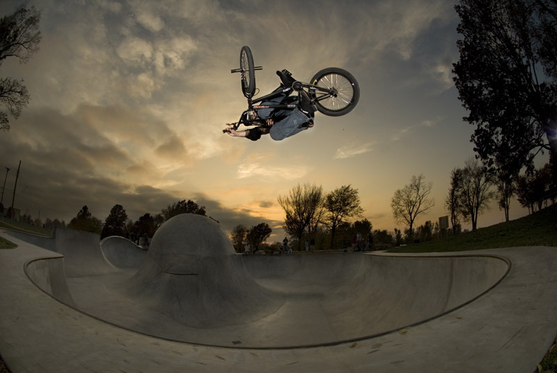 Photo by Thad Allender BMX in Kansas City on Saturday.